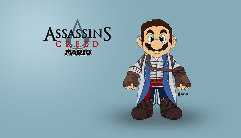 Mario assassin's creed pic 1
